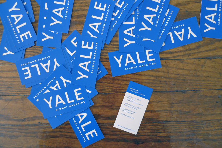 Yale Alumni Magazine business cards - YES IS MORE: the creative ...