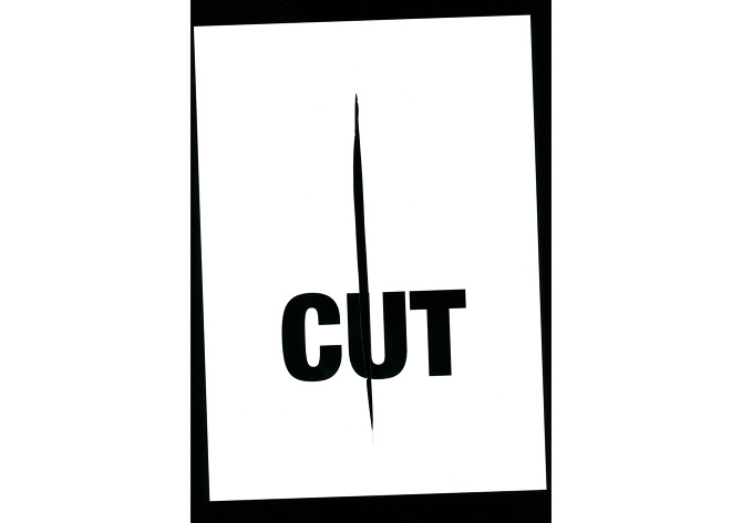 a3 posters designed words cut
