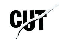 cut designed words