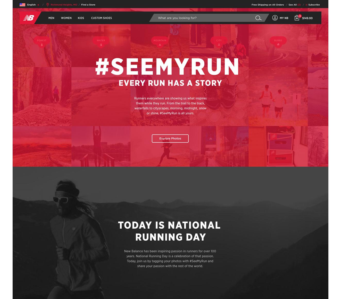 New Work: New Balance #seemyrun - Gary Pikovsky ______ Creative Direction \u0026  Design.